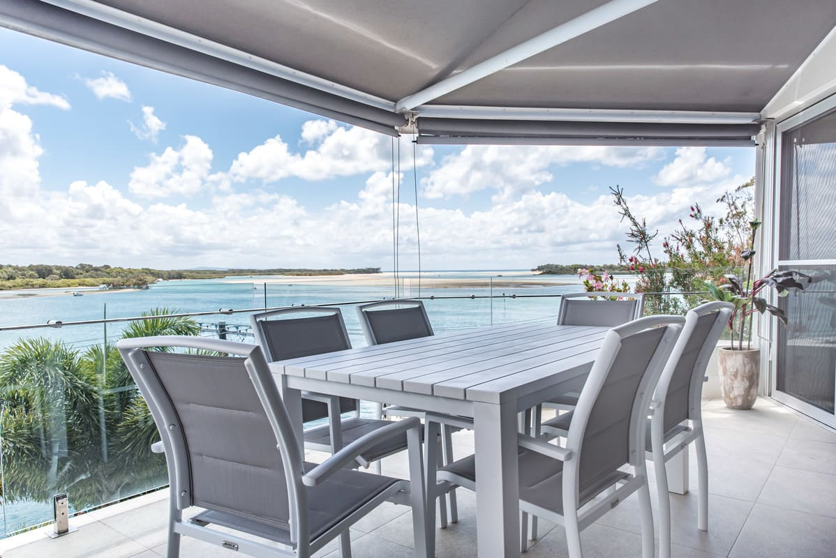 Amazing blue ocean views from the balcony, living area and master bedroom. Weber BBQ on balcony.