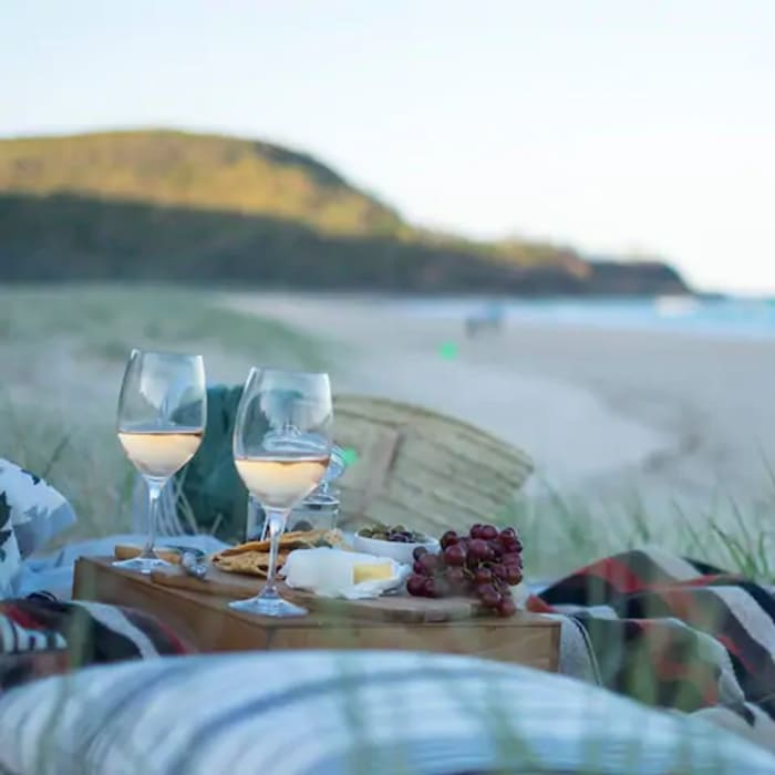 Enjoy gourmet picnics on the beach