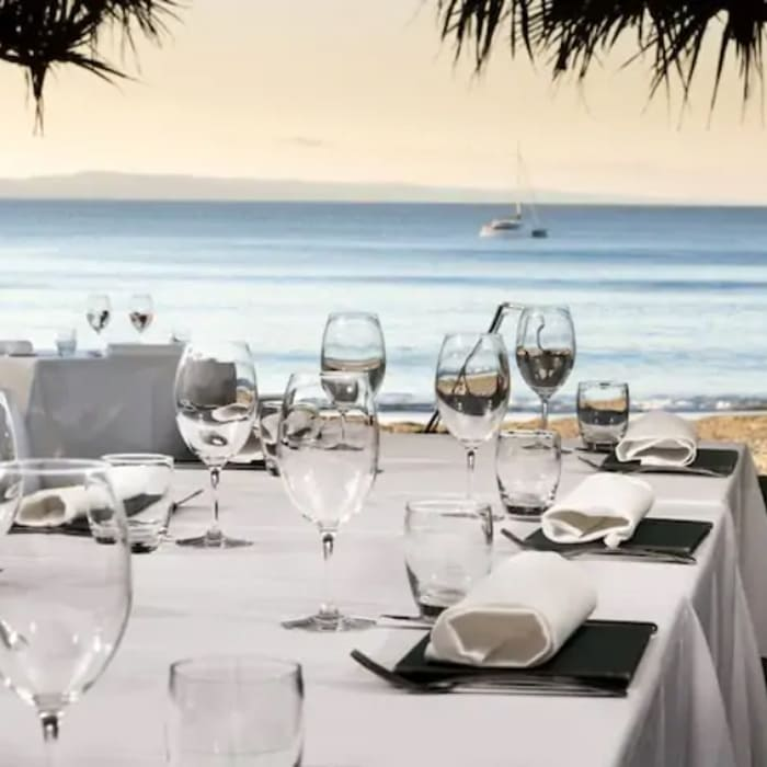 Dine in Sails beachfront restaurant and watch the sun going down whilst enjoying fresh seafood, Rose and cocktails